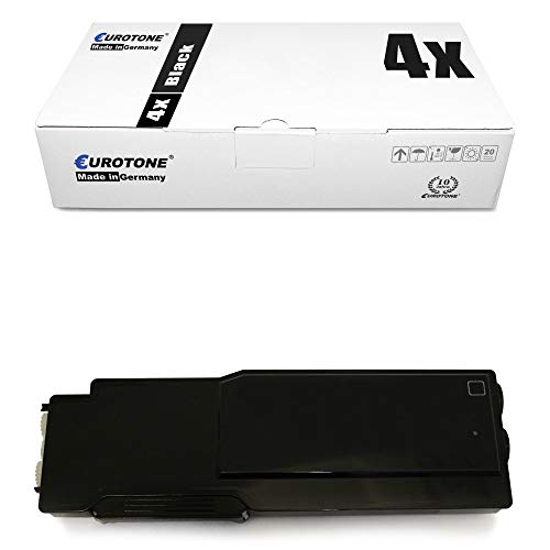 4x Eurotone Toner for Dell C 3760 3765 wie 59311119 593-11119 Black