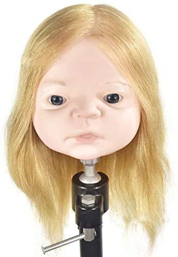 Mannequins de couture reglable Formation Pratique Professionnelle Hot Head Dyeing blanchissement Ciseaux Modélisation tête Tressage Cheveux Mannequin Porte vêtement Mannequin