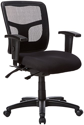 Lorell Ergomesh Chair, Mesh Back/Black Fabric Seat