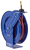 Coxreels P-LP-325-AL Spring Rewind Hose Reel for air/water: 3/8 I.D., 25' hose, 300 PSI by Coxreels