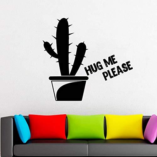 Geiqianjiumai Umarme Mich Bitte Kaktuspflanze Blume Hauptdekoration Wohnzimmer Schlafzimmer Schlafzimmer Schlafzimmer Kinderzimmer Wandbild 81X75.6CM