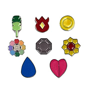Pocket Monster Generation 1-6 Gym Badge Collection Box Game collection Set of 8PCS Gift for Boy and Girls  Generation 1