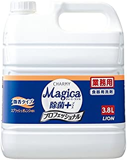 ライオン CHARMY Magica チャーミーマジカ 除菌+(プラス) プロフェッショナル 微香スプラッシュオレンジの香り 3.8L×3本入