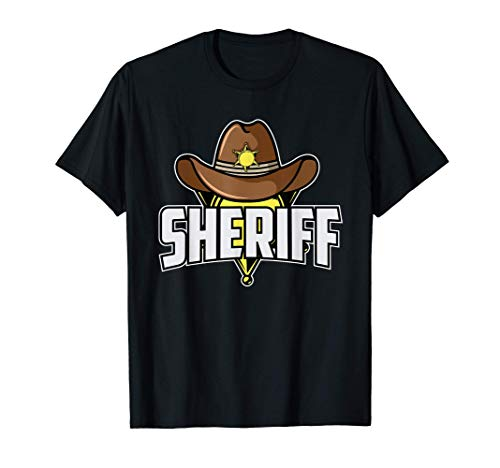 Traje de sheriff I Vaquero e indio I Occidental I Sheriff Camiseta