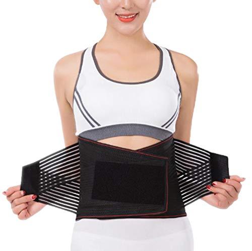 DaiHan Fitness Gürtel, Rücken Gurt, Lendenwirbelstütze, Rückenbandage Sports, Verstellbare Rückenstütze, Bauchweggürtel für Männer und Frauen rot XL