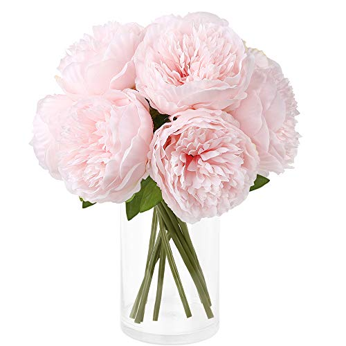 CDWERD 10 künstliche Pfingstrose Blumen Kunstblumen Pfingstrosen Party Braut Hochzeitsblumenstrauß, Familie Büro Tisch Dekoration