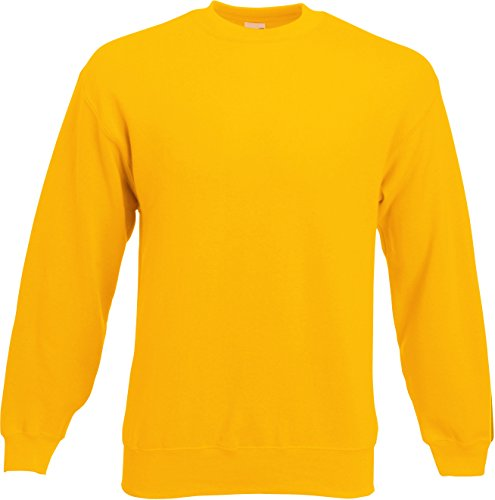 Fruit of the Loom - Set-In Sweatshirt - sunflower - Größe: M
