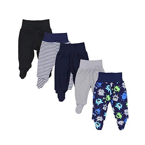 TupTam Pantalón con Pies de Bebé Pack de 5, Niño 2, 80