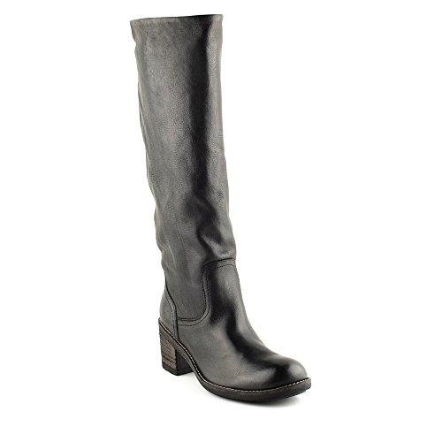 Felmini - Damen Schuhe - Verlieben Amesterdam 7566 - Klassik Hohe Stiefel - Echtes Leder - Schwarz - 41 EU Size