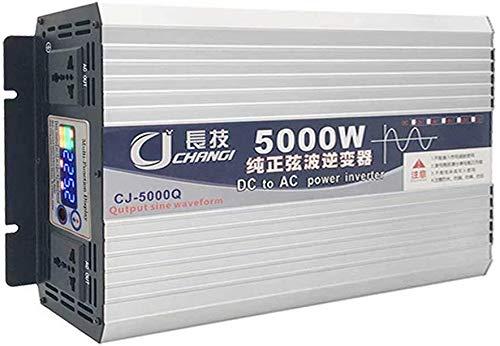 KPL puissance onduleur onde pure sinusoïdale 2500W 3000W onduleur à onde sinusoïdale pure 60V48V24V12V 220V Convertisseur onduleur voiture avec affichage numérique intelligent 2 Ac Sortie 3000W Puissa
