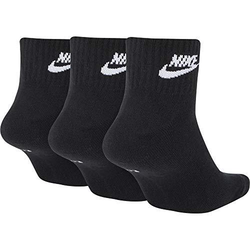 Nike Mens U NK NSW EVRY ESSENTIAL ANKLE Socks BlackWhite Large