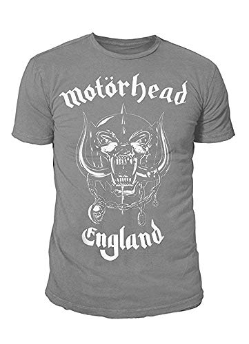 Motörhead Rock Icon heren T-shirt - Warpig Engelse logo (grijs)