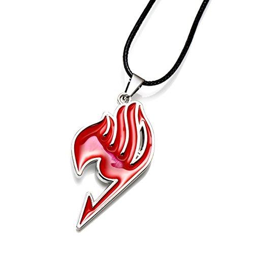 Colar com pingente de liga de 4 cores com símbolo da Magic Association da New Anime Fairy Tail, Vermelho