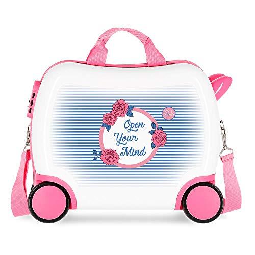 Roll Road Rose Maleta Infantil Multicolor 41x34x20 cms Rígida ABS Cierre combinación 25L 2Kgs 4 Ruedas Equipaje de Mano