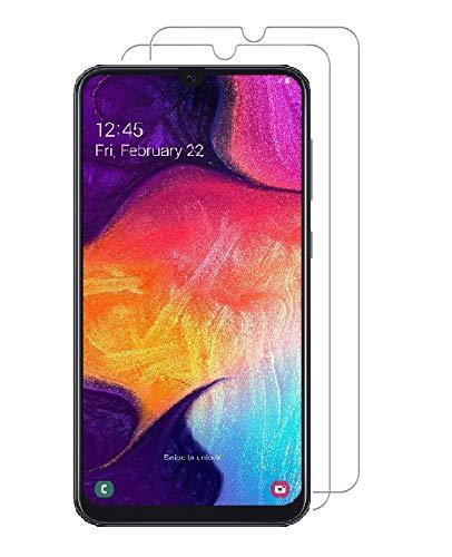 Smartphone Equipment (2er Pack) Panzerglas für Samsung Galaxy A50 Echt-Hartglas 9H Glasfolie Schutzfolie Glas Folie Panzerfolie Display Schutz