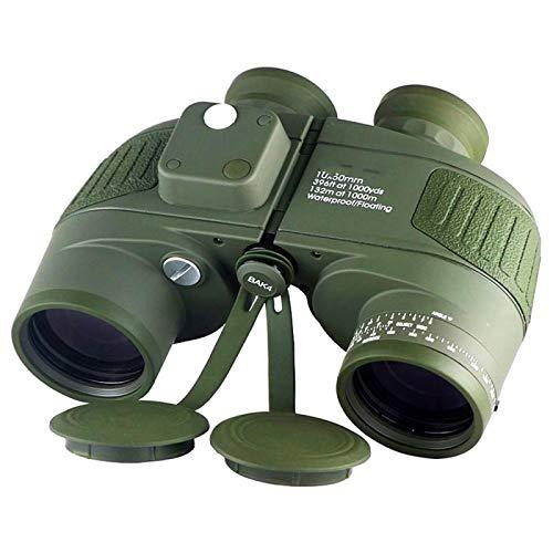 Binoculares 10X50 con Brjula Bak4 Prism Fmc Lente Telescopio De Navegacin A Prueba De Niebla Marina Impermeable Verde