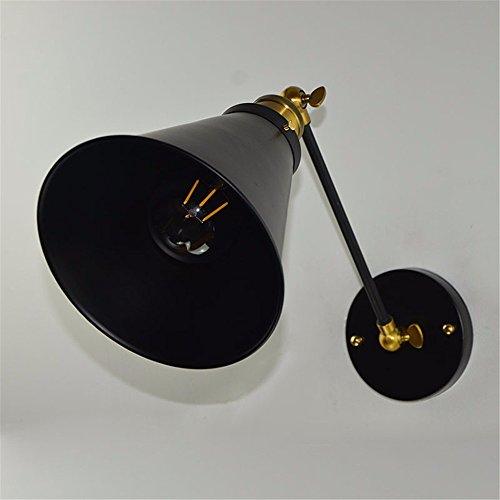 JJZHG wandlamp wandlamp waterdichte wandverlichting Bedside wandlamp slaapkamer restaurant gang één deel ijzeren spiegel schijnwerper omvat: wandlamp, stoere wandlampen
