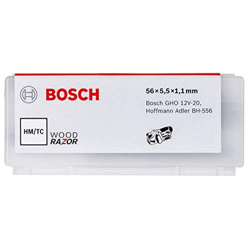 Bosch Cuchilla De Cepillar, Recta, Hm, 56 X 5,5 Mm, 40°, Paquete De 10, Para Gho 12V-20