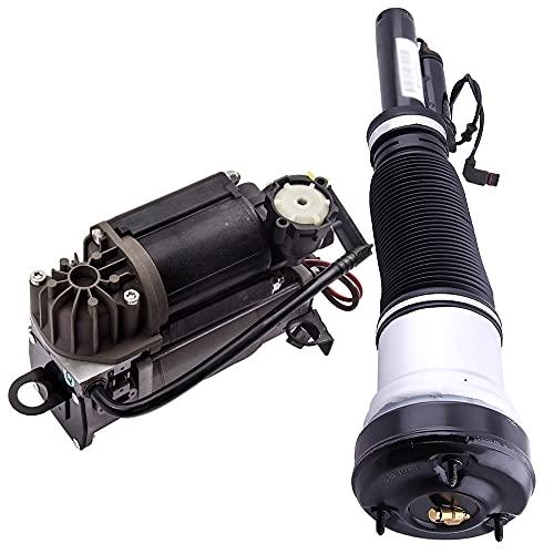 MGGRP Amortiguador amortiguador amortiguador de aire + compresor para Clase S W220 1998-2006 2203202438 2203205013 2113200304