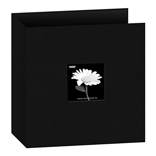 Pioneer T-811CBFBK 8 1/2 Inch by 11 Inch 3-Ring Fabric Frame Cover Memory Binder, Deep Black