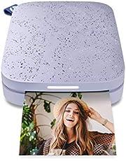 HP Zębatka przenośna 5 x 7,6 cm natychmiastowa drukarka zdjęć (Lilac) wydrukuj zdjęcia na papierze z cynkiem z urządzeń z systemem iOS i Android