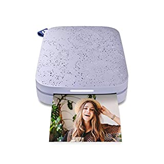 """HP Sprocket Portable 2x3"""" Instant Photo Printer (Lilac) Print Pictures on Zink Sticky-Backed Paper from your iOS & Android Device. (B07JM42QDX) 
