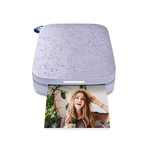 HP Sprocket Portable 2x3' Instant Photo Printer (Lilac) Print Pictures on Zink Sticky-Backed Paper from your iOS & Android Device.