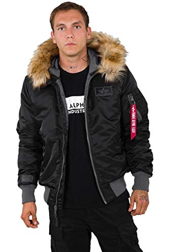 ALPHA INDUSTRIES MA-1 Hooded CW, Black, XX-Large para Hombre