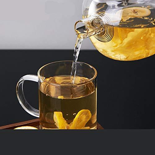 Jarras para Agua Agua Jarra de Vidrio Caldera frío Leche de té Jugo Jugo Bebida Jarra Capacidad de Gran Capacidad Tetera de té para Jugo,Bebida,Leche (Color : Clear, Size : 1500ml)