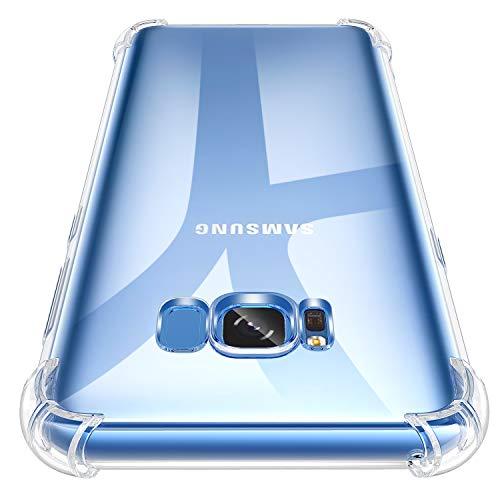 Losvick Coque pour Galaxy S8 Plus, Clear Silicone Premium TPU Case Ultra Mince Quatre Coins Renforcé Housse Gel Souple Cover Antichoc Anti-Rayures Bumper Etui pour Galaxy S8 Plus - Transparent