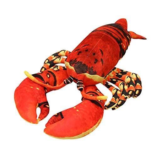 Xiaoahua Simulación de Langosta de Peluche de Juguete muñeca de Peluche Suave Animal de mar Almohada para la Siesta cojín Juguetes creativos para Chico decoración del hogar Regalo Divertido 80cm