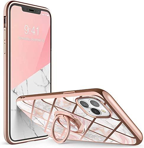 i-Blason Cosmo Snap Projetado para iPhone 11 Pro Max Case, Slim com suporte de anel giratório 360 ° embutido Kickstand Suporta suporte para carro (Mármore)