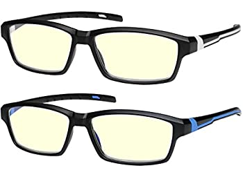 Anti Glare Computer Reading Glasses Blue Light Blocking Reduce Eyestrain for Computer and Screens Sport for Men and Women +2.5