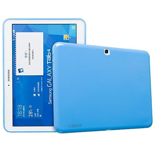 Juppa - Custodia sottile in gel TPU per Samsung Galaxy Tab 4 da 10,1', SM-T530 SM-T531, con pellicola proteggi schermo, panno in microfibra e scheda di applicazione, colore: Blu