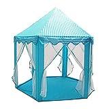 ZHHZ Tienda Infantil de Interior, Hexagon Princess Castle Tienda de Juegos Toy House Kids Playhouse para niños Niños pequeños Juegos de Interior Outdoor, Montaje rápido 119x140cm-skyblue