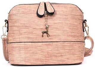 Fashion 2019 Leather Women Bags Ladies Simple Style Shell Shape Handbags Casual Crossbody Shoulder