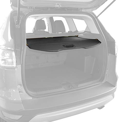 Tyger Auto Retractable Trunk Cargo Cover Compatible with 2013-2018 Ford Escape (Black Color)