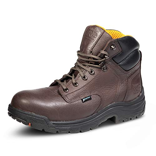 Timberland PRO Men's 26078 Titan 6' Waterproof Safety-Toe Work Boot Industrial, Dark Mocha, 10.5