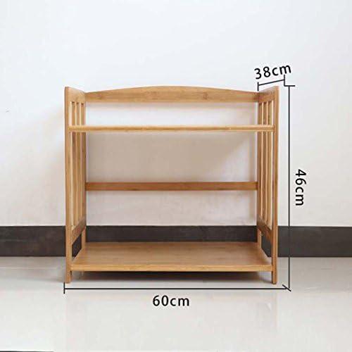 MENA Home Mikrowellenofen Racks Bambus-Topf-Racks Aufbewahrungsregale Küche-Racks Boden-Mikrowellen-Racks Ofen-Regale (Größe   S)
