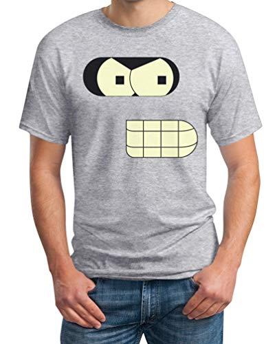 Roboter Männer Faschingskostüme Karneval Kostüm Herren T-Shirt L Grau