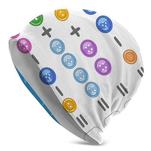 Sdltkhy Juego de matemáticas con botones para niños, fácil nivel, gorra de reloj de calavera, gorro de invierno, para uso diario y deportes