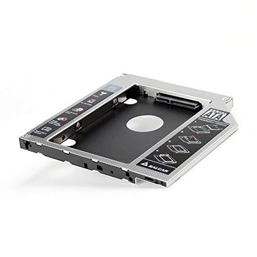 SALCAR -- 2nd HDD SSD SATA 3.0 HDD Hard Drive(2.HDD SATA III Unibody SuperDrive Caddy Adattatore per 9,5mm (9.5mm) Notebook Dvd-Rom bay Ottico