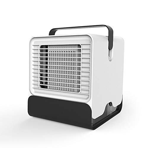 QIHONG Mini Portable Negative ion Air-Conditioner Fan,150ml Water Tank,Desk Cooler Fan for Office/Dormitory Cooling|USB Rechargeable,Low Noise,Best for Hot Summer