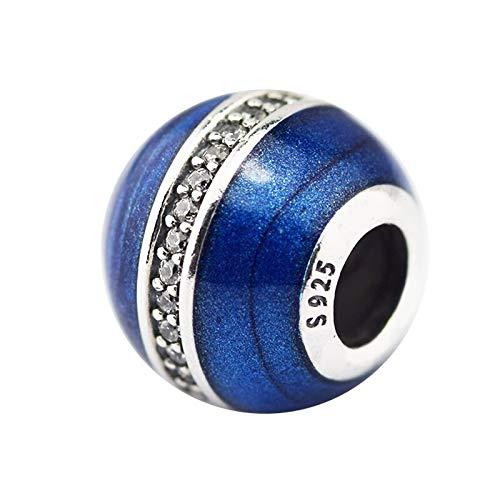 Joyería De Plata De Ley 925 para Mujer Abalorios De Órbita Se Ajustan A Pulseras Pandora Europeas Collares Fabricación De Joyas DIY