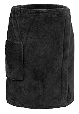 Leisureland Men's Plush Fleece Wrap, Spa Gym Bath Wrap