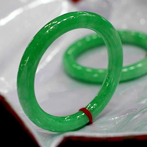 wangk Brazalete de Jade Real de 100%, Regalo de Jade para Amigo, Brazalete de Mujer, Brazalete de Jade innerdiameter56mm