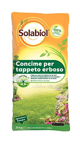 Solabiol 877 Concime Granulare Biologico Tappeto Erboso, Marrone, 10Kg