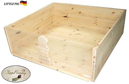 Meerschweinchengehege Little Pig Käfig Gehege aus Massivholz 120x120x40cm Made in Germany von KÄPPEL-Germany