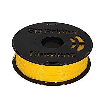Entweg Flex Filament,1KG/ Spool 1.75mm Flexible TPU Filament Printing Material Supplies White, Black, Transparent for 3D Printer Drawing Pens Yellow