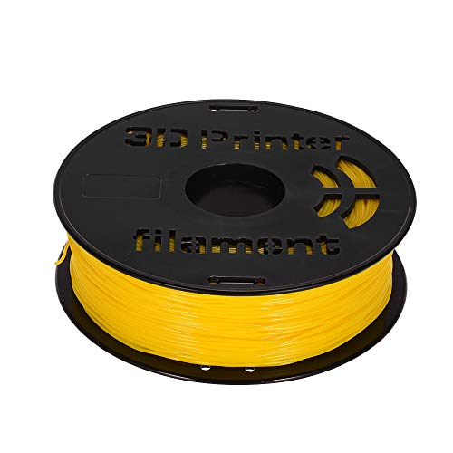 Festnight 1KG / Spool 1.75mm Flexible Material de impresión de filamento TPU Suministros Blanco, Negro, Transparente para impresora 3D Plumas de dibujo Amarillo